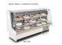 Balcão refrigerado confeitaria 2,00m - vidro curvo